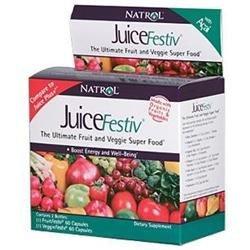 JuiceFestiv, Ultimate Fruit & Veggie Super Food, 60+60 Capsules, Natrol