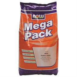 NOW Foods - Whey Protein Isolate Mega Pack Natural Unflavored - 10 lbs.