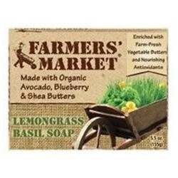 Farmer's Market Natural Bar Soap Lemongrass Basil 5.5 oz
