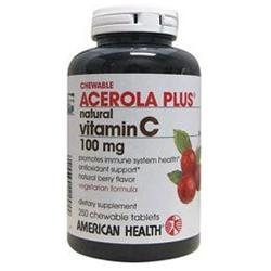 American Health Acerola Plus Natural Vitamin C 300mg Chewable Tablets