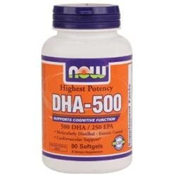 NOW Foods - Highest Potency DHA-500 - 90 Softgels