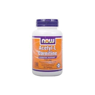 NOW Foods - Acetyl-L-Carnitine 750 mg. - 90 Vegetarian Tablets