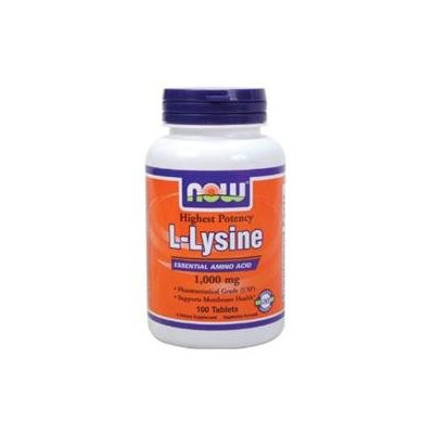 NOW® Foods L-Lysine Double Strength Essential Amino Acid Tablets