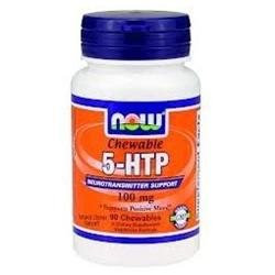 NOW Foods - 5-HTP Chewable Natural Citrus Flavor 100 mg. - 90 Chewable Tablets