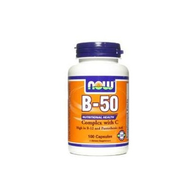 NOW Foods - B-50 with Vitamin C 250 mg. - 100 Capsules