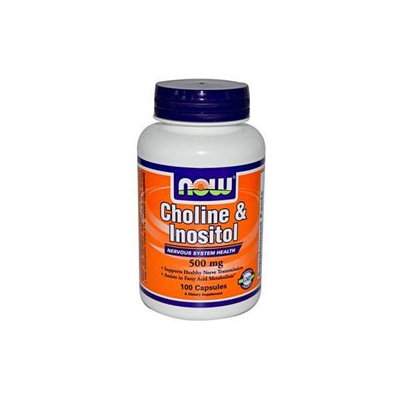 NOW Foods - Choline and Inositol 500 mg. - 100 Capsules