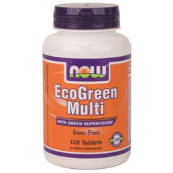 NOW Foods Eco-Green Multi Vitamin, Tablets, 120 ea