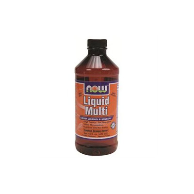 NOW Foods Liquid Multi Vegetarian Non-GE, Tropical Orange, 16 oz