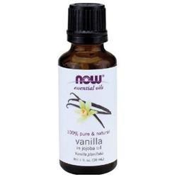 NOW Foods - Vanilla in Jojoba Oil 100 Natural Vanilla - 1 oz.