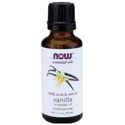 NOW Foods - Vanilla in Jojoba Oil 100 Natural Vanilla - 1 oz.