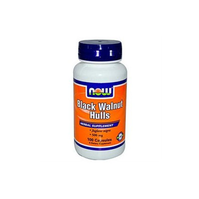 NOW Foods - Black Walnut Hulls 550 mg. - 100 Capsules