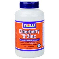 NOW Foods Elderberry & Zinc Lozenges, Raspberry