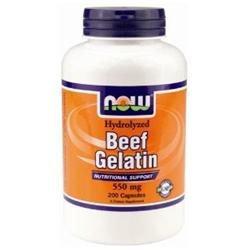 NOW Foods - Beef Gelatin 550 mg. - 200 Capsules