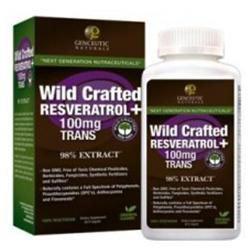 Genceutic Naturals Wild Crafted Resveratrol + 100mg Trans, Veggie Capsules