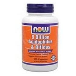 NOW Foods Acidophilus & Bifidus 8 Billion VCaps