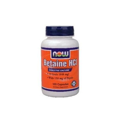 NOW Foods Betaine HCl 648 mg Caps