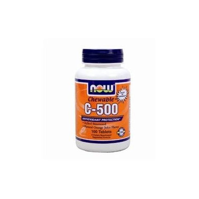 NOW Foods C-500 Chewables, Orange Juice