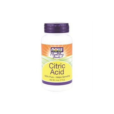 NOW Foods - Citric Acid 100 Pure - 4 oz.
