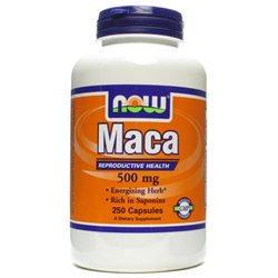 NOW Foods Maca 500 mg, Capsules, 250 ea