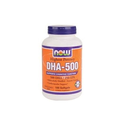 NOW Foods DHA 500 mg Softgels