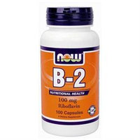 NOW Foods Vitamin B-2 100 mg Caps