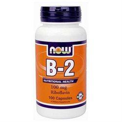 NOW Foods Vitamin B-2 100 mg Caps