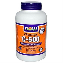 Now Foods C-500 Chew, Cherry, Tablets, 100-count