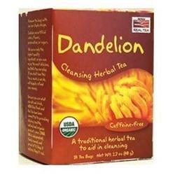 NOW Foods - Dandelion Cleansing Herbal Tea - 24 Tea Bags