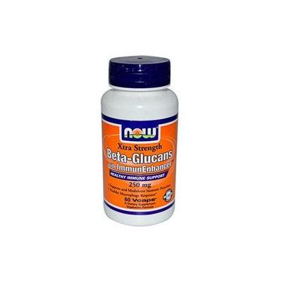 NOW Foods - Beta-Glucans with ImmunEnhancer Xtra Strength 250 mg. - 60 Vegetarian Capsules