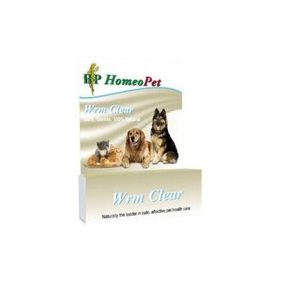 HomeoPet - Wrm Clear Liquid Drops For Pets - 15 ml.