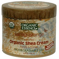 Organic Essence Pure Organic Organic Essence Organic Shea Cream, Vanilla Orange, 4 oz