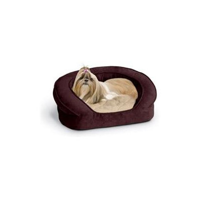 K & H Manufacturing Deluxe Ortho Bolster Sleeper Large Eggplant Paw