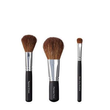 VEGAN LOVE Tapered Cheek Flawless Face Wet/Dry Shadow Brush Trio