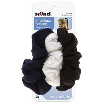 Scunci Effortless Beauty 2 X 2 Basic Ribbed Twisters