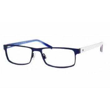 Tommy Hilfiger 1127 Eyeglasses-04XR Matte Blue/Blue Red White -55mm