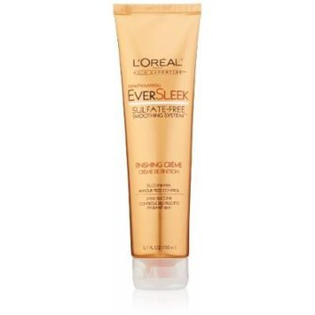 L'Oreal Paris EverSleek Sulfate-Free Smoothing System Finishing Crème, 5.1 Fluid Ounce
