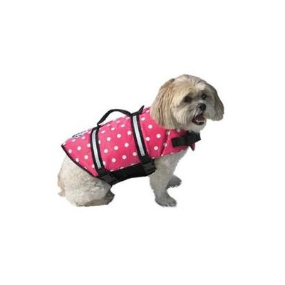 Paws Aboard Doggy Life Jacket Large Pink Polka Dot