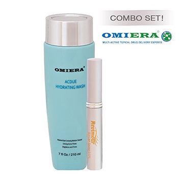 Omiera Labs ANTI-AGING SET That Includes Acdue Face Wash (7.0 fl oz) + EYELASH GROWTH SERUM
