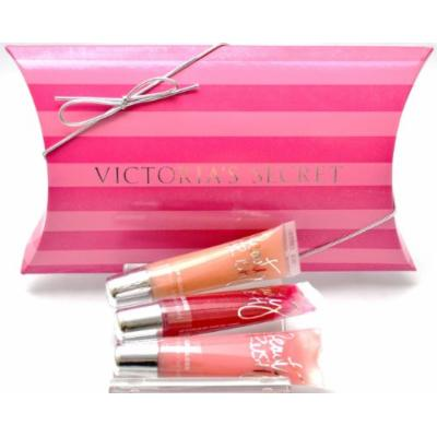 Victoria's Secret Beauty Rush Lip Glosses Gift Set Includes Slice of Heaven, Candy Baby and Cherry Bomb