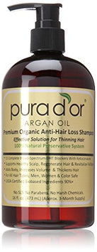 Pura d'or Premium Organic Argan Oil Anti-Hair Loss Shampoo (Gold Label)