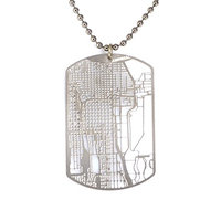 Chicago Dog Tag - Urban Gridded Jewelry