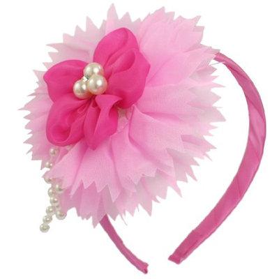 Uxcell Plastic Beads Flower Decor Girls Hair Hoop or Headband
