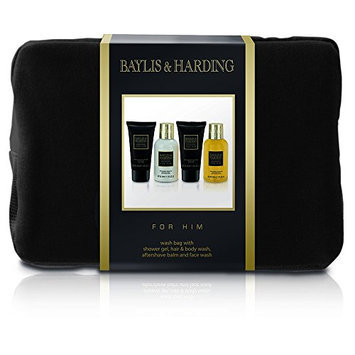 Baylis and Harding Gift for Him Men's Black Pepper and Ginseng Wash Bag Gift Set