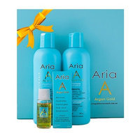 Argan Oil of Morocco salon style shampoo and conditioner set Gift Box for Medium - Thick Hair