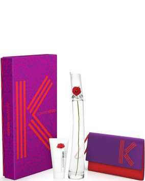 Kenzo Flower 3 Piece Gift Set for Women (Eau de Parfum Spray Plus Creamy Body Milk Plus Pouch)