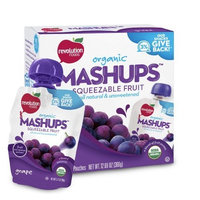 Revolution Foods Organic Mashups Squeezable Fruit, Grape, 4 - 3.17 oz Packets, (Pack of 6)