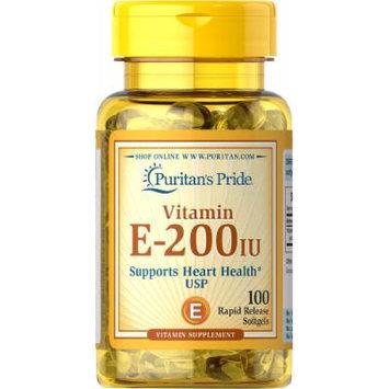 Puritan's Pride Vitamin E-200 IU-100 Softgels