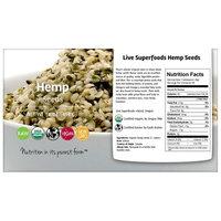 Live Superfoods Organic Hemp Seeds, 16 oz
