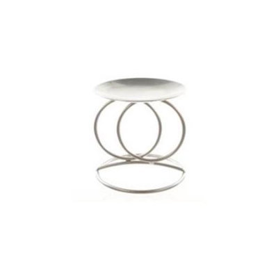 Ddi Double Rings Candle Holder - Matte Silver(Case of 48)