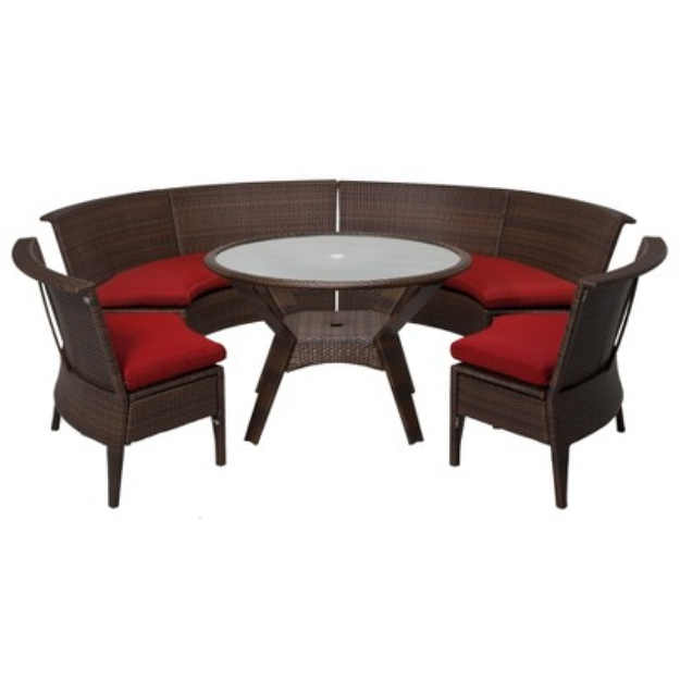 Threshold Rolston 5-Piece Wicker Patio Dining Sectional Furniture Set